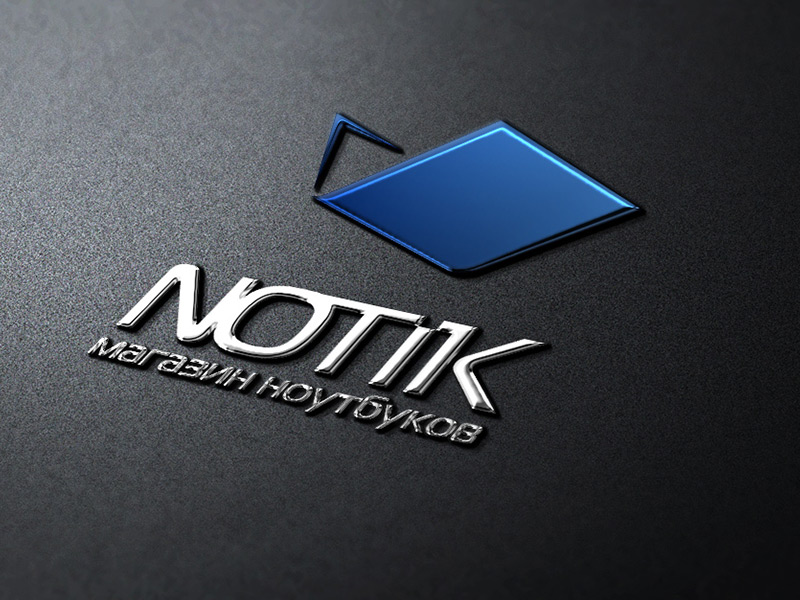 Logotype for notebook online shop NOTIK