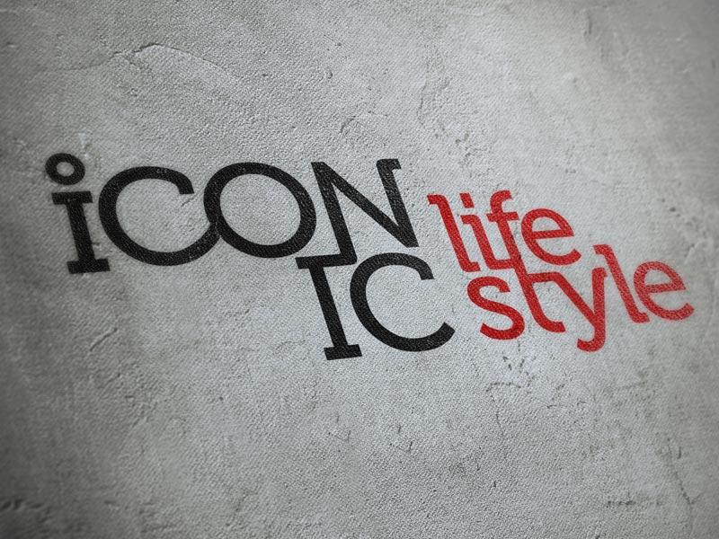 Iconic life style company logo